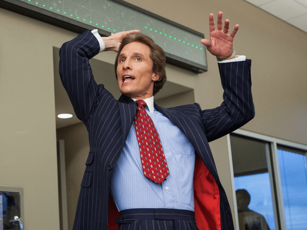 matthew mcconaughey in the wolf of wall street