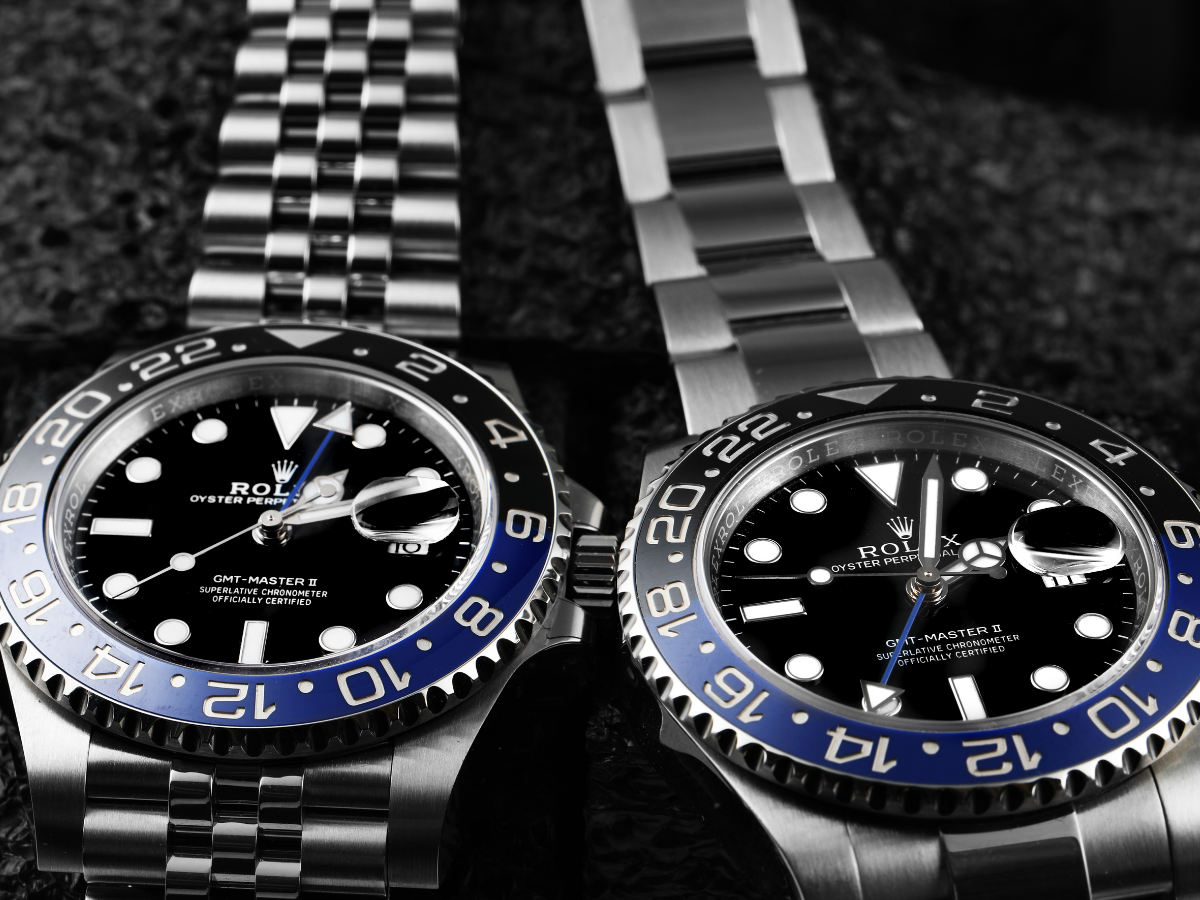 rolex batman chromalight with luminous materials