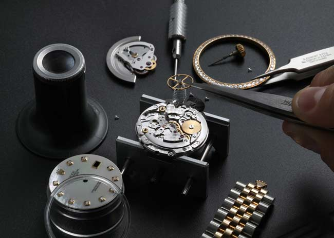 Watchmaker working